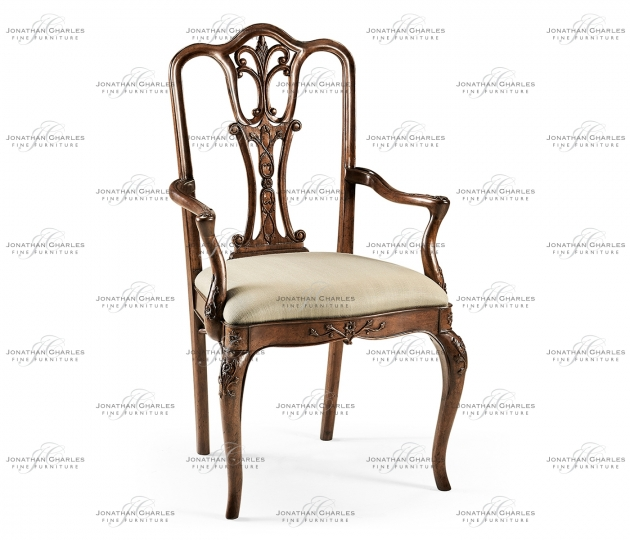 small rushmore Mahogany 18th Century Style Dining Arm Chair