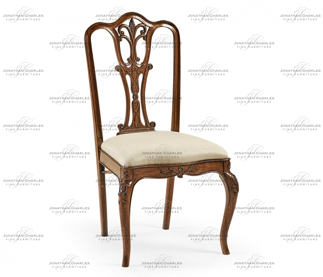 small rushmore Mahogany 18th century style dining side chair