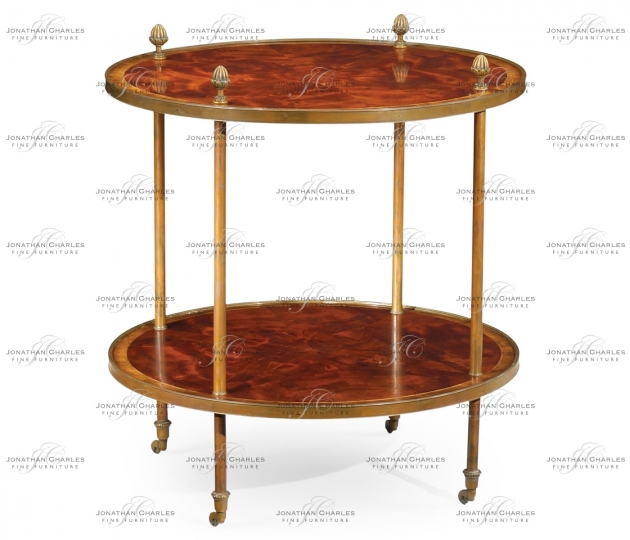 small rushmore Brass mounted serving table