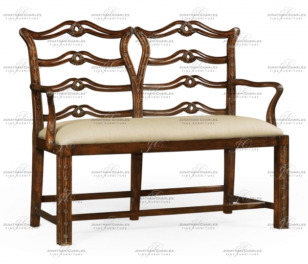 small rushmore Chippendale style double bench with pierced back