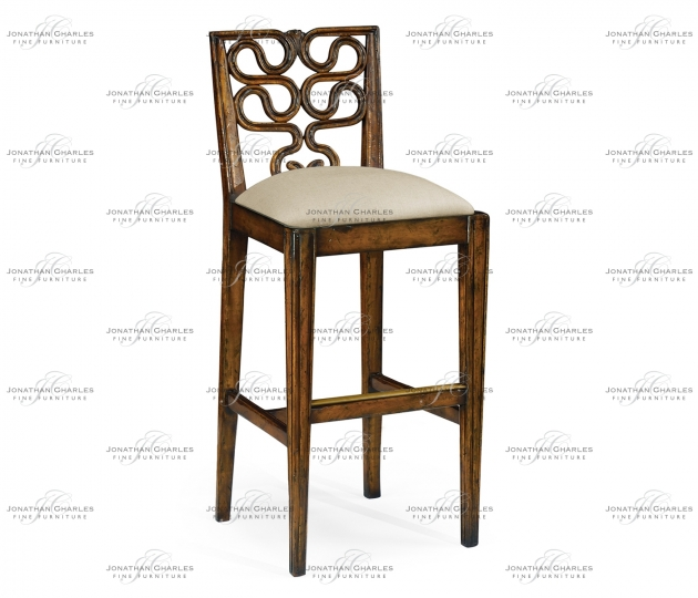 small rushmore Serpentine back barstool (Side)