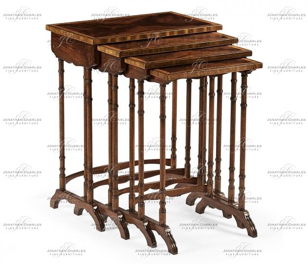 small rushmore Regency Mahogany Nest of Tables