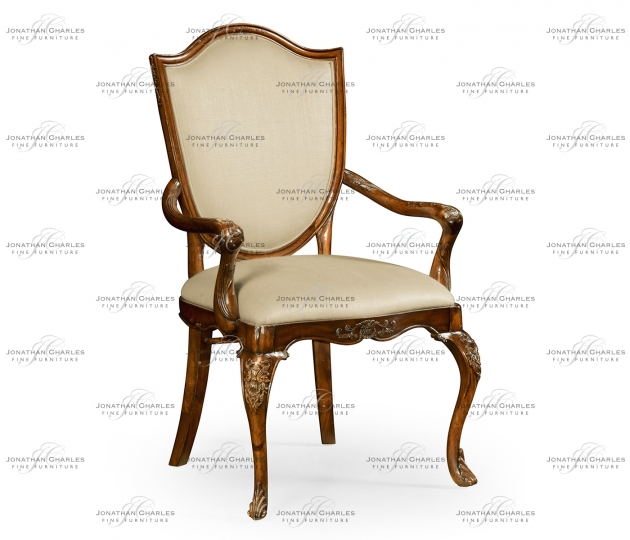 small rushmore Shield back mahogany armchair with medium antique chestnut leather in Mazo