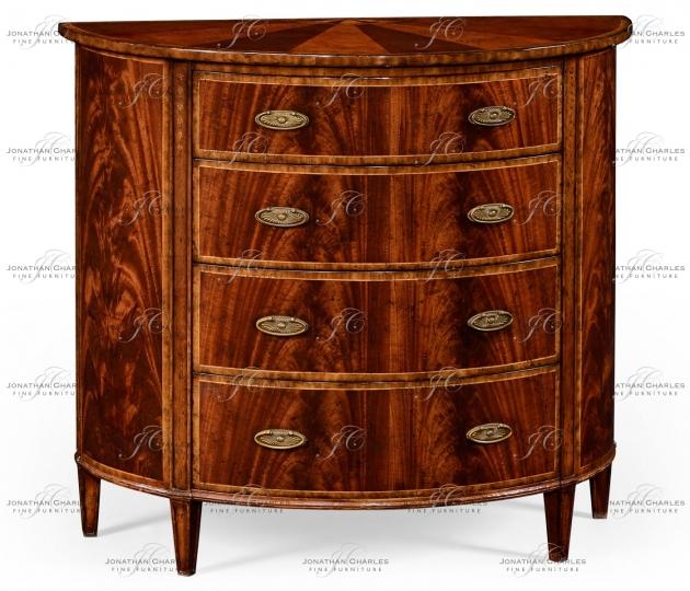 small rushmore Mahogany demilune chest drawers