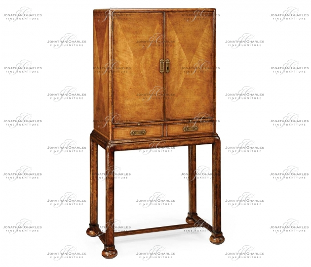 small rushmore Satinwood drinks cabinet