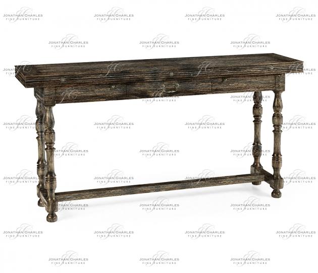 small rushmore Small Dark Driftwood Hunt Table