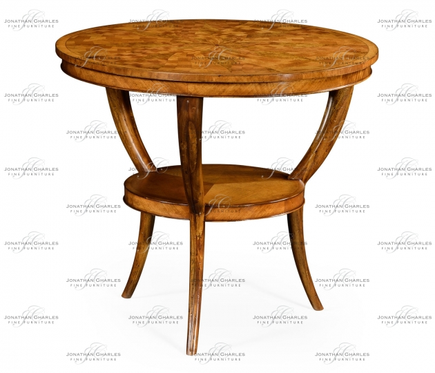 small rushmore Two-tier marquetry centre table