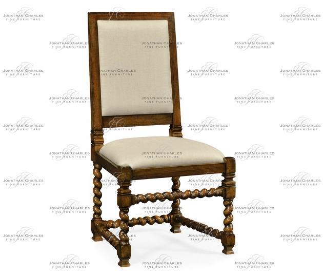 small rushmore Carolean style chair with upholstered back (Side)