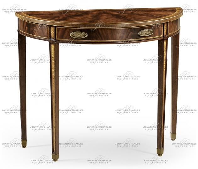small rushmore George II style mahogany console