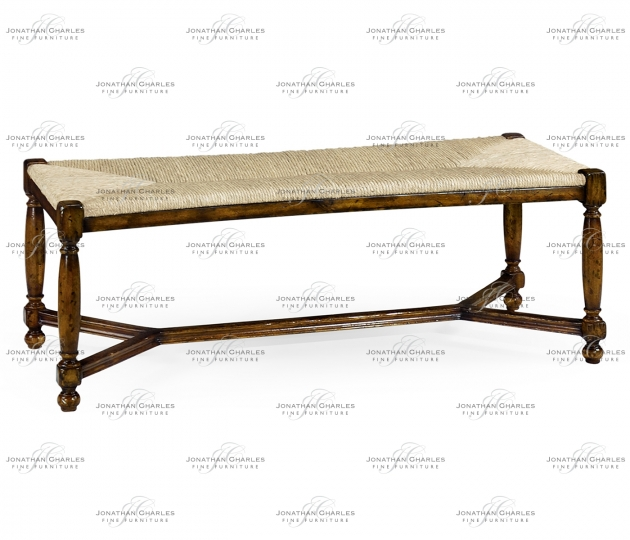 small rushmore Two Seat Stool with Rushed Seat
