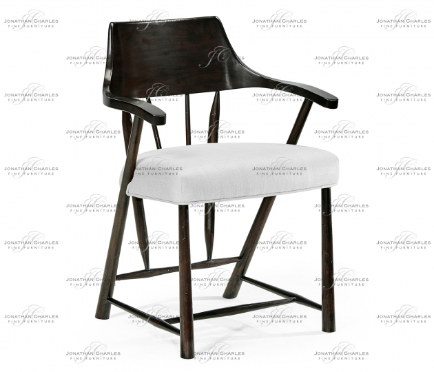 small rushmore Dining Chair in Dark Ale, Upholstered in COM