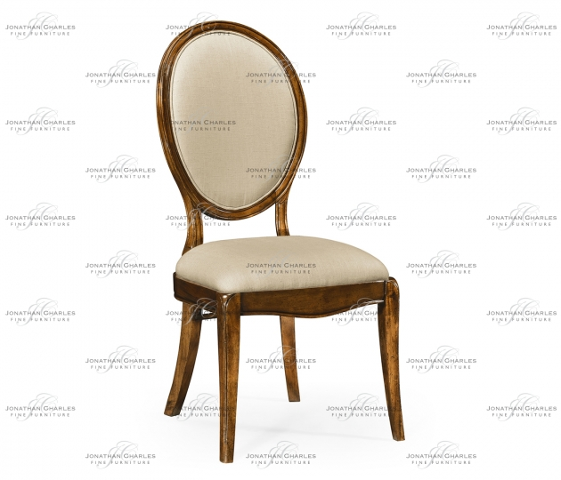 small rushmore Spoon back upholstered dining chair (Side)
