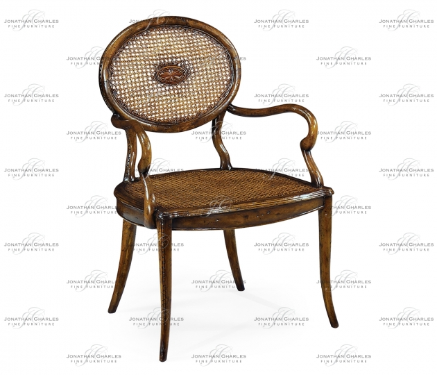 small rushmore French Caned Chair with Oval Back (Arm)