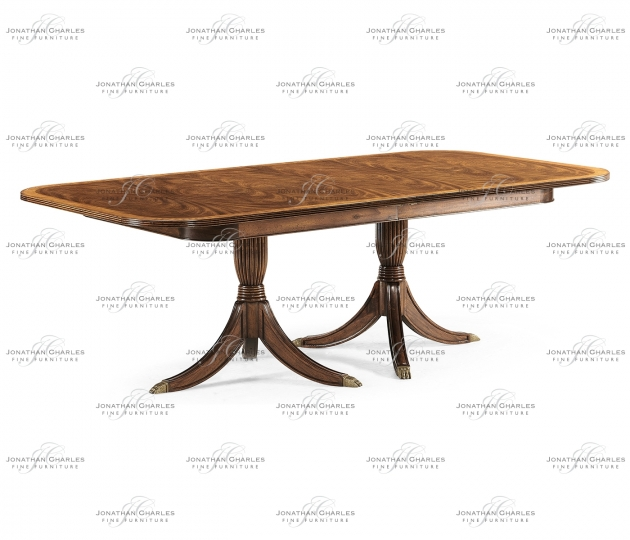 small rushmore Regency two leaf walnut extending dining table