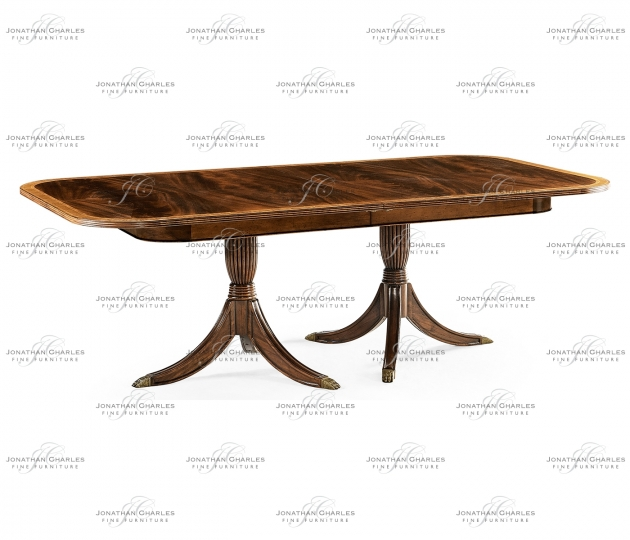 small rushmore Regency two-leaf mahogany extending dining table