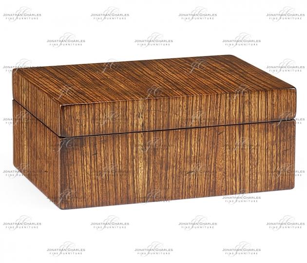 small rushmore Rectangular Exotic Zebrano Box
