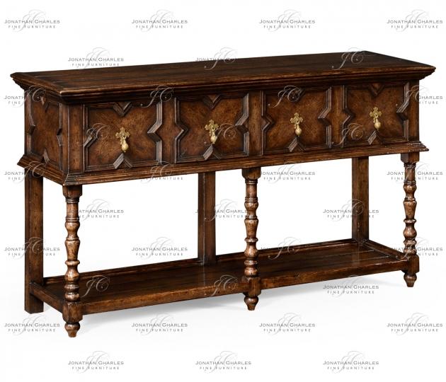 small rushmore Tudor Style Dark Oak Buffet