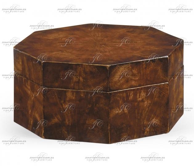 small rushmore Octagonal mahogany crotch veneer box