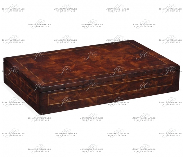 small rushmore Placemats box with patchwork crotch mahogany veneer