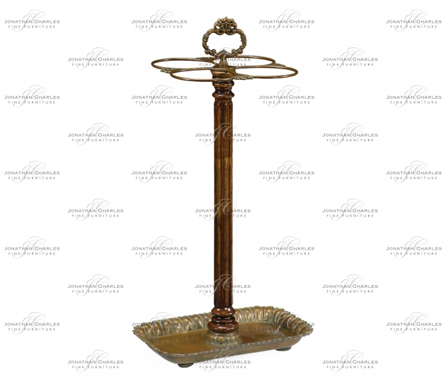 small rushmore Walnut & Brass Umbrella Stand