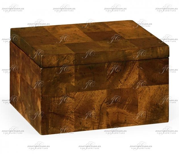 small rushmore Rectangular Patchwork Mahogany Drink Coasters Box