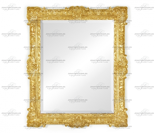 small rushmore French 19th century style bright gilded mirror