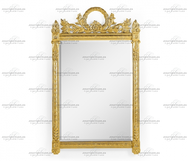 small rushmore Empire style gilded mirror