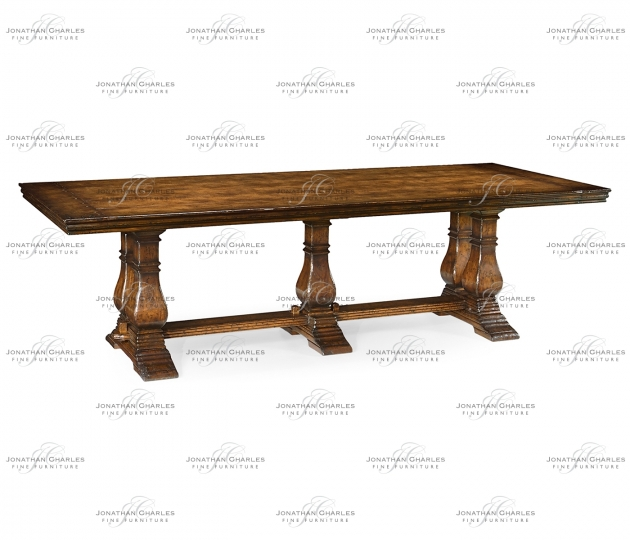 small rushmore Large walnut refectory table