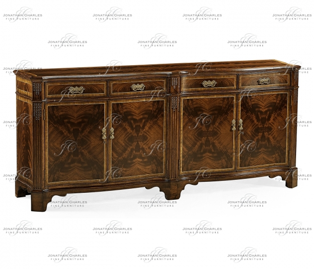 small rushmore Mahogany double serpentine sideboard