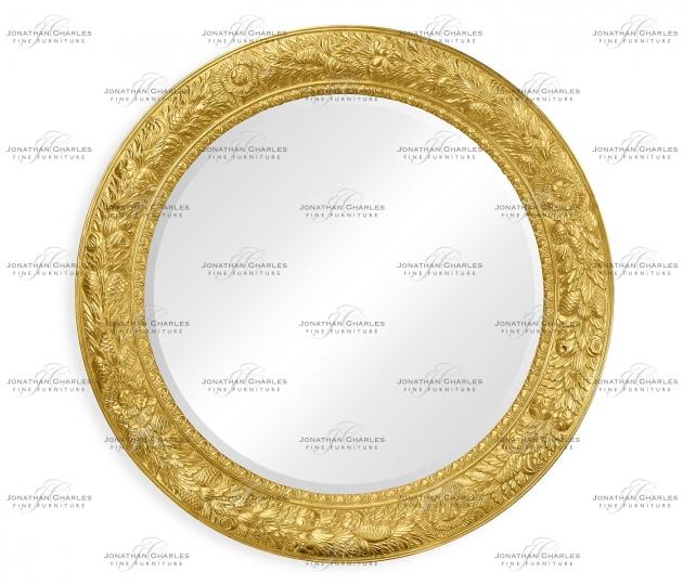 small rushmore Large circular gilded mirror