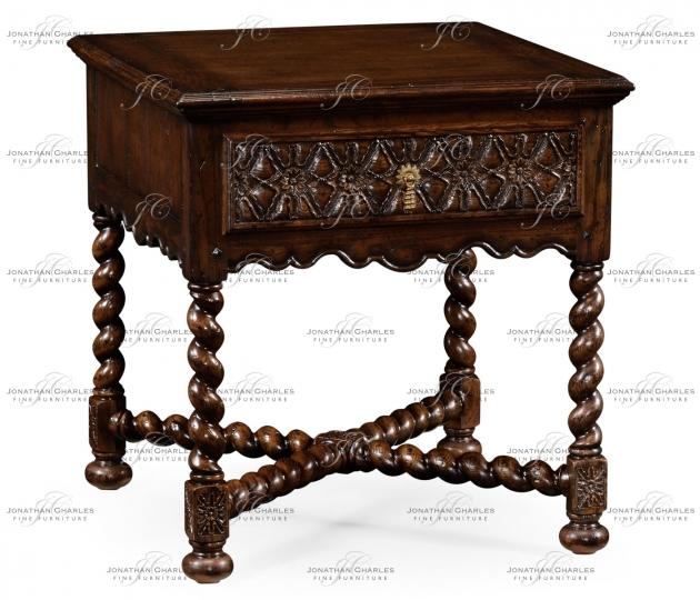 small rushmore Dark Oak Square Side Table