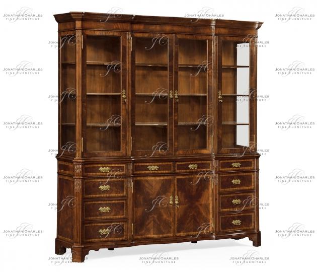 small rushmore Serpentine Architrave Mahogany China Cabinet