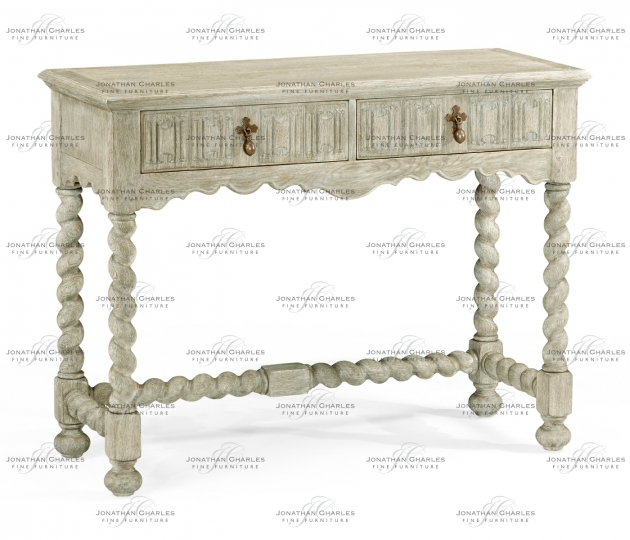 small rushmore Linenfold grey oak console