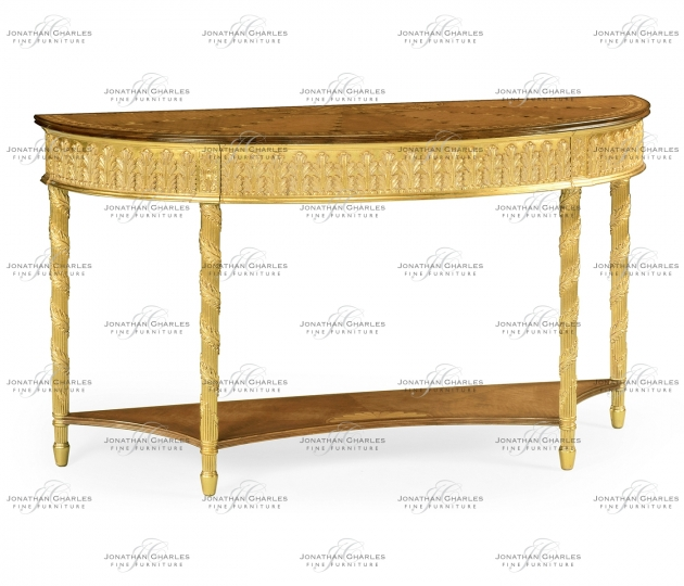 small rushmore Gilded console with shelf (Large)