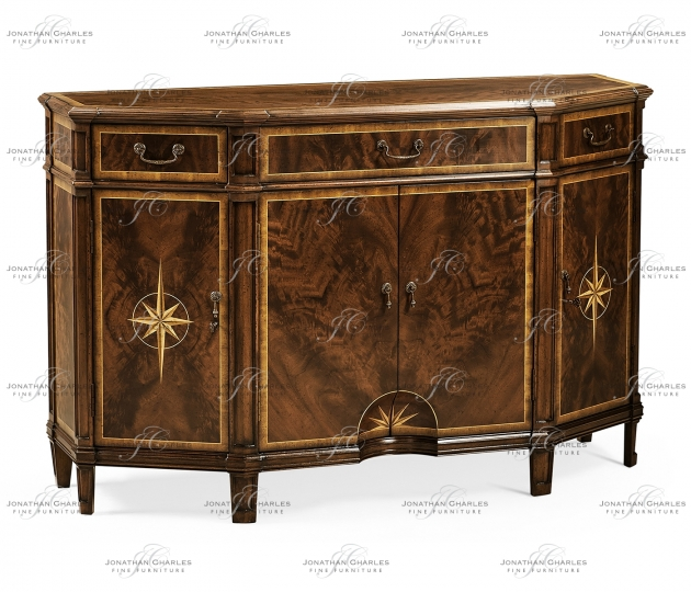 small rushmore Starburst Mahogany Side Cabinet