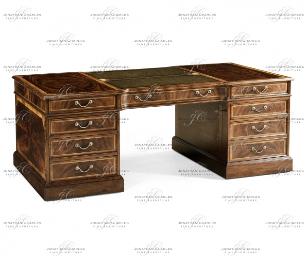 small rushmore Mahogany Partners Desk