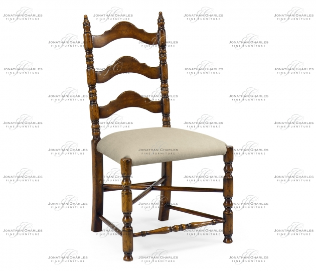 small rushmore Oak ladder back country chair (Side)