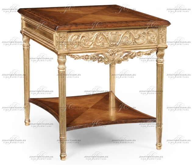 small rushmore Louis XIV style square side table