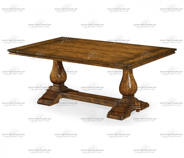 small rushmore Figured Walnut Refectory Style Coffee Table