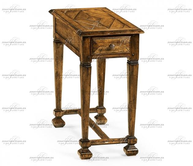 small rushmore Narrow Walnut Side Table