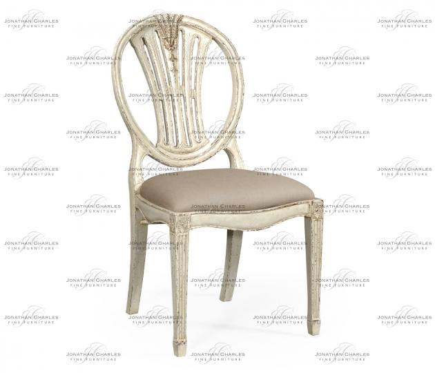 small rushmore Hepplewhite wheatsheaf side chair (Off-white)
