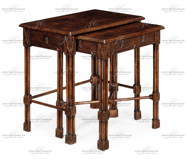 small rushmore Chippendale gothic style nesting tables