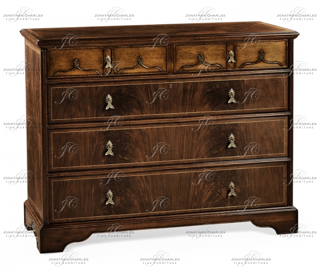 small rushmore Chippendale gothic large chest of five drawers