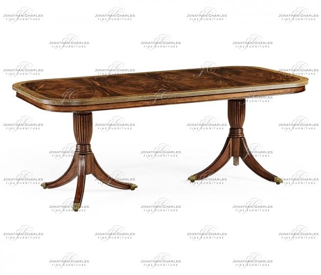 small rushmore Regency fixed top mahogany dining table
