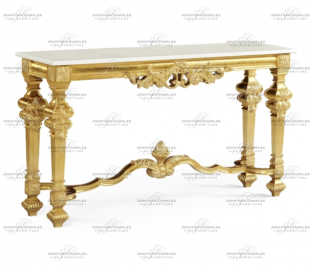 small rushmore Marble Topped Baroque Gilded Console