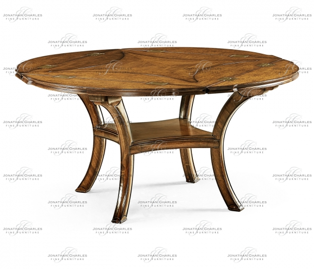 small rushmore Figured Walnut Square To Circle Dining Table