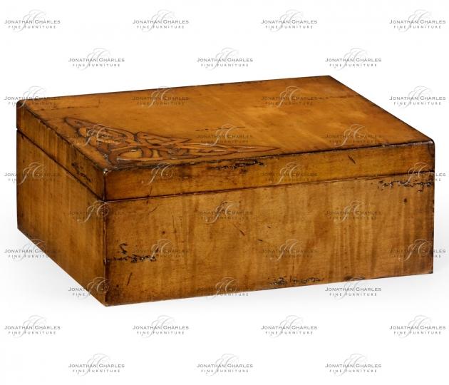 small rushmore Raised celtic veneer rectangular box