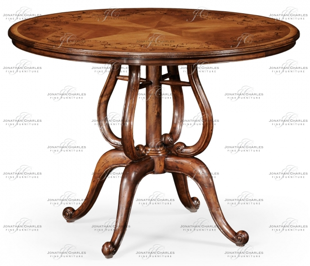 small rushmore Inlaid country centre table
