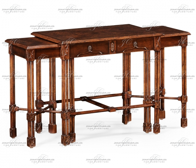 small rushmore Chippendale Gothic Nest of Tables