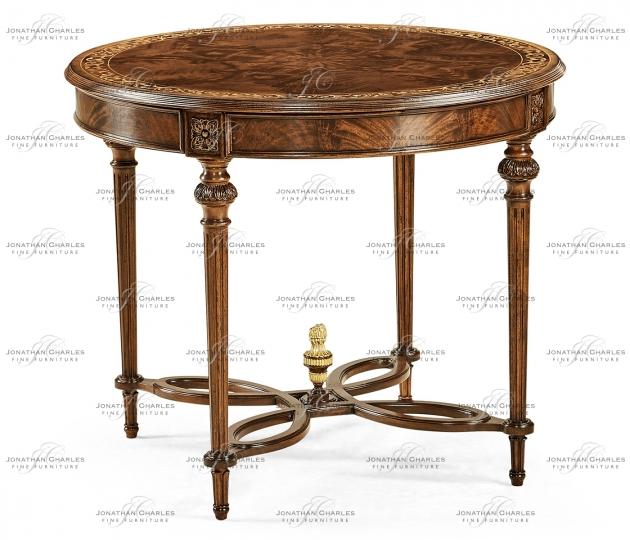 small rushmore Napoleon III Mahogany Center Table (Plain Base)
